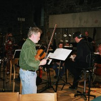 "David Stewart and the BIT 20 Ensemble in reherasal for the world premiere of ""Particles of One ,"" 2004."