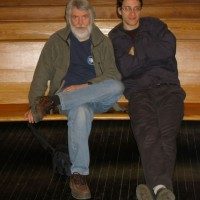 With composer Michael Oesterle, 2003.